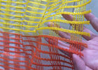 Yellow  Orange Striping Snow Warning Net Used In Building Bridge Warp Knitted Weaving Type