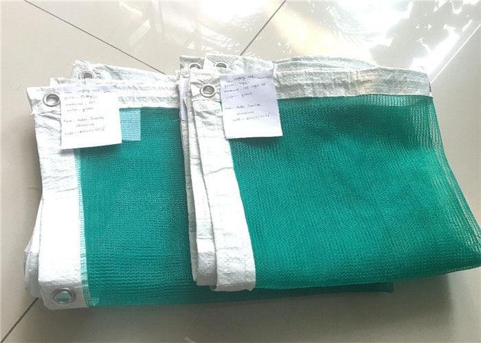 Edge Folded Warp Knitted Scaffold Safety Netting With Aluminium Buckles