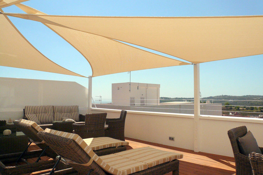 Polyester Triangle Garden Shade Sail , Garden Shade Cloth 16*16*16ft